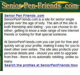 International dating sites for seniors
